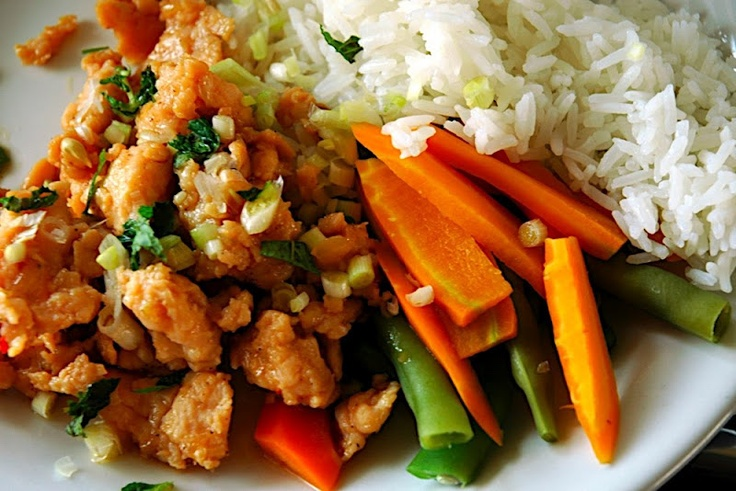 """Thai Chicken Larb Gai (Laap) """"so astonishingly full of flavor and ..."""