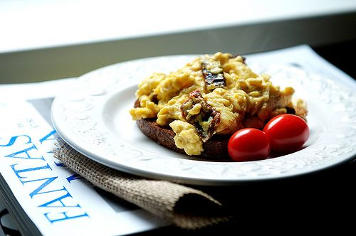 Scrambled eggs with sun-dried tomato & parmesan   Calling all ...