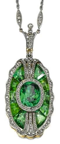 Tiffany & Company ~ Tourmaline Necklace, 1910.