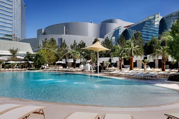 aria hotel pool las vegas