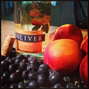 Oliver Winery Peach Honey Wine and Blueberry Galette | Basilmomma