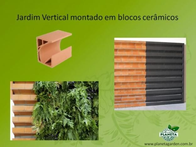 jardim vertical bloco : jardim vertical bloco:Jardim vertical em blocos cerâmicos