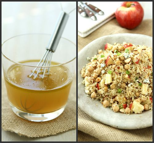 Quinoa Salad with Apple, Chickpeas, Toasted Almonds & Apple Cider Vin ...