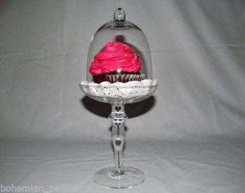 New glass party wedding centerpiece dome pedestal cupcake