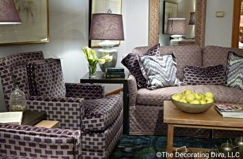 Loving this shade of purple. Living room collection by Julie Bova for Stanford furniture. Fall 2013 #hpmkt