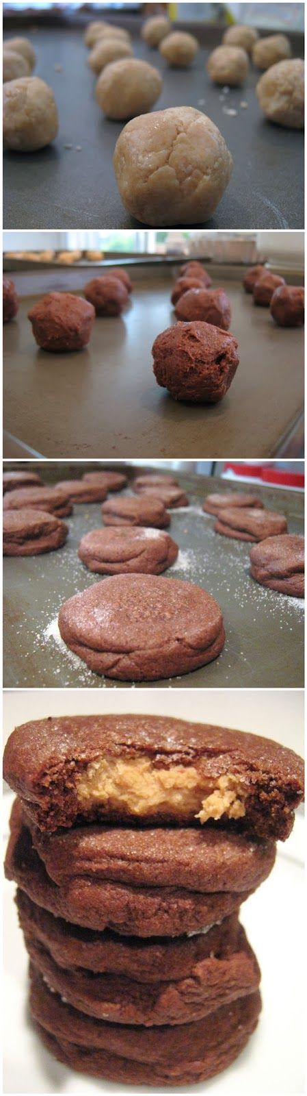 Chocolate Peanut Butter Surprise Cookies | Cooking ideas 2014 | Pinte ...