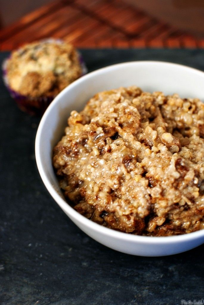 Overnight Apple-Cinnamon Oatmeal- This is delicious! Will be making it ...