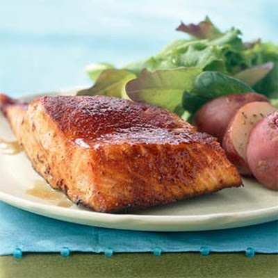 Maple-Glazed Salmon | Seafood Dishes | Pinterest