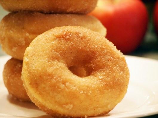 Baked Apple Cinnamon Doughnuts | Recetas Dulces | Pinterest