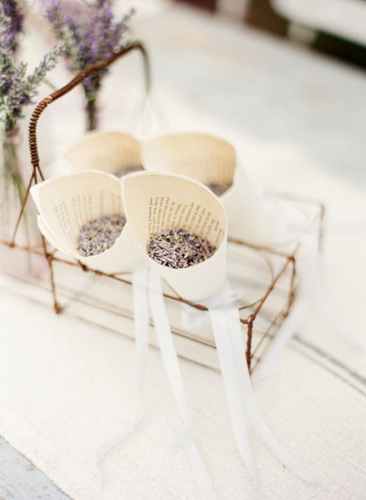 throw dried lavender at the bride and groom so much better than rice
