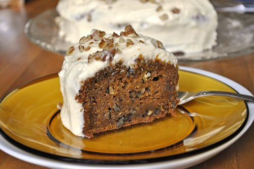 Carrot Pecan Cake with Cream Cheese Frosting - easy to make and ...