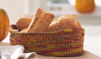 Free autumn bread basket pattern Crochet Pinterest