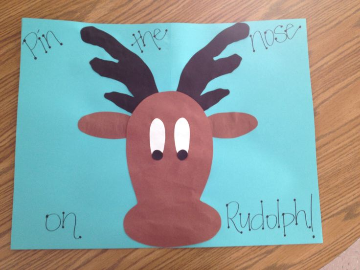 Pin the nose on Rudolph game I made!! | Part of Me in Creativity! | P ...