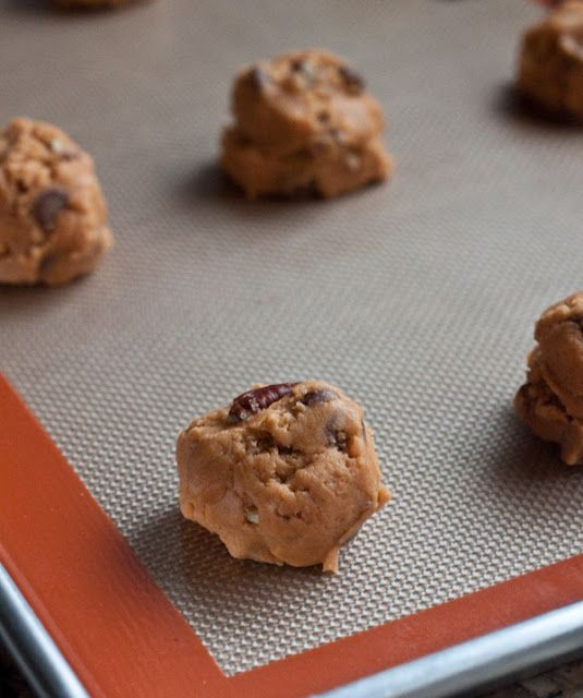 Pumpkin Pecan White Chocolate Cookies Recipe — Dishmaps