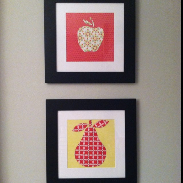 Diy Wall Art With Scrapbook Paper : Diy kitchen art from scrapbook paper if these walls