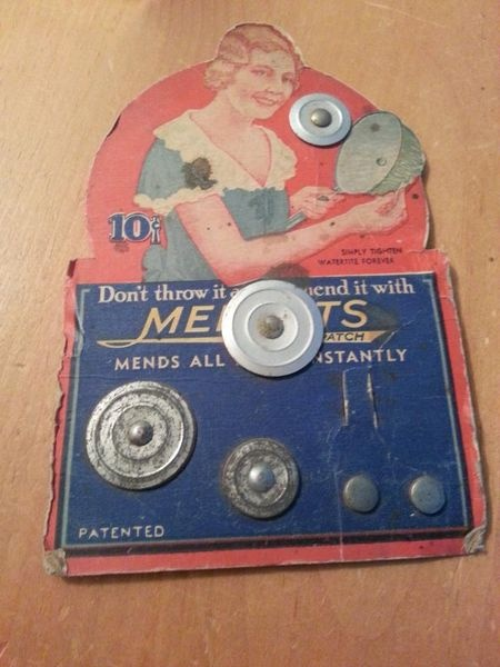For mending enamel pots, how neat