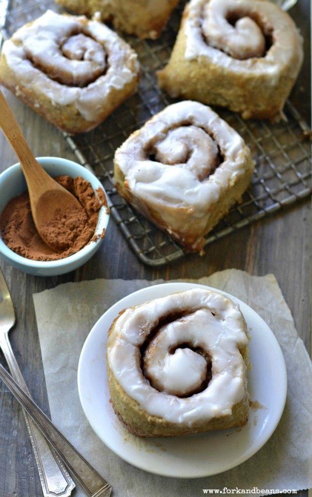 Gluten-free Vegan Cinnamon Roll - Fork & Beans - make w/ whole grain ...