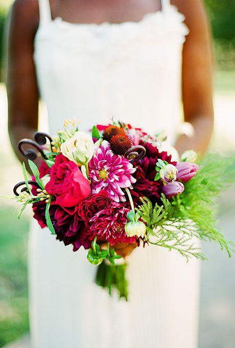 Wedding Bouquet With Dahlias : Pink dahlia wedding bouquet