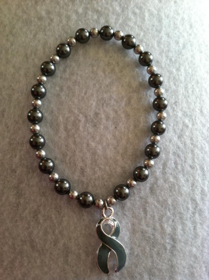 Awareness Ribbon Stretchy Bracelet for Brain Cancer: $7