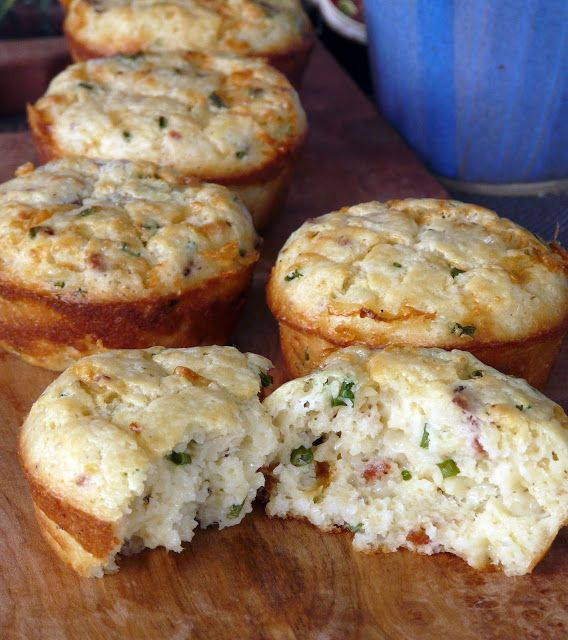 Bacon, Cheddar Cheese and Chive muffins | Food ideas | Pinterest