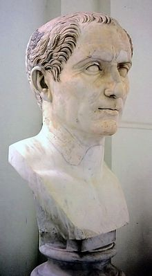 """January 10, 49 BC – Julius Caesar crosses the Rubicon, signaling the start of civil war. The war ended Rome's republican era with Caesar being named """"perpetual dictator."""""""