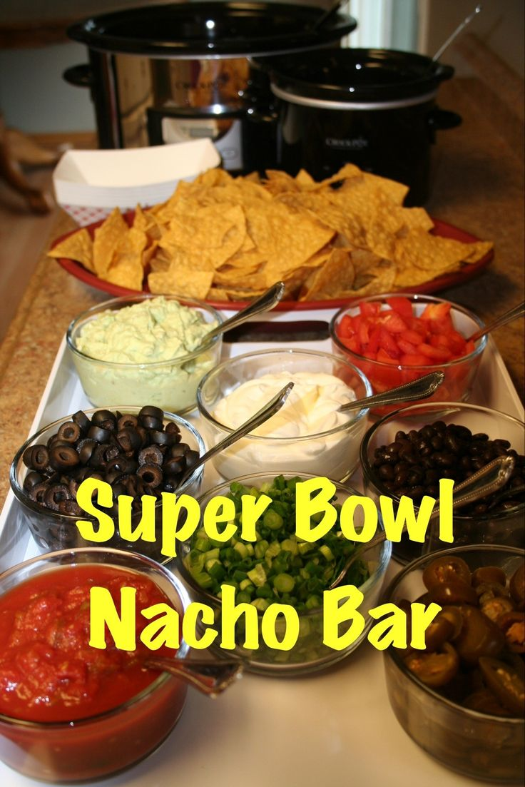 Super Bowl Nacho Bar | The Magical Slow Cooker