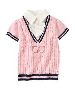 Mock Ruffle Shirt Sweater