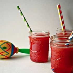 Raspberry Agua Fresca