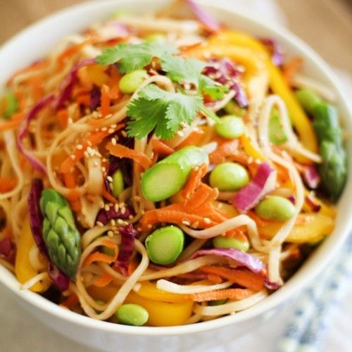 Spring Vegetable Pad Thai Recipe | Good Eats: Main Dish | Pinterest