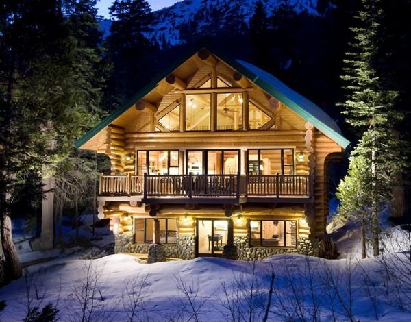 Log Cabin In Winter Living Building Architecture Pinterest