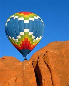 Hot air balloon over the canyons!