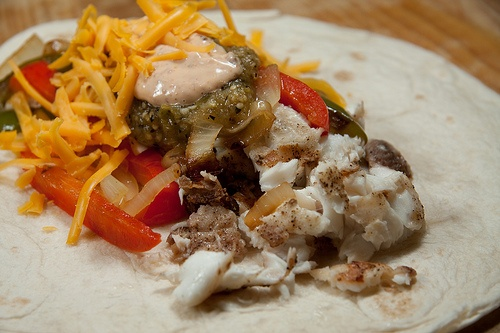 Tilapia Tacos with Salsa Verde and a Creamy Chipotle Sauce