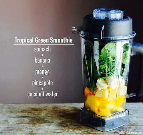 Tropical Green Smoothie | Drinks | Pinterest