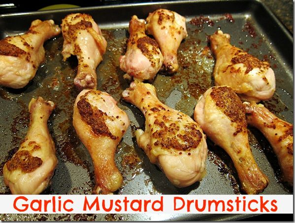 Garlic Mustard Drumsticks