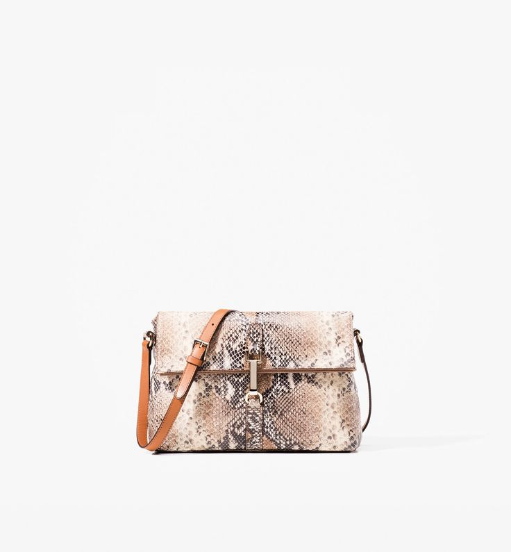 Snakeskin Messenger Bag