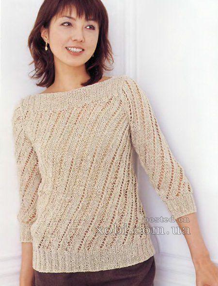 Пуловер спицами вязание спицами