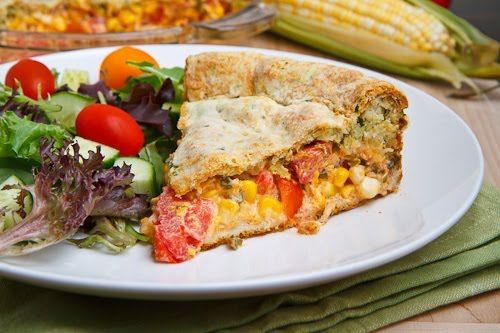 Corn and Tomato Pie from Closet Cooking. http://punchfork.com/recipe ...