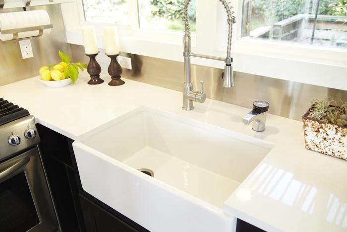 Barn House Sink : ... Design, caesarstone countertop, Home Depot butler sink, Remodelista