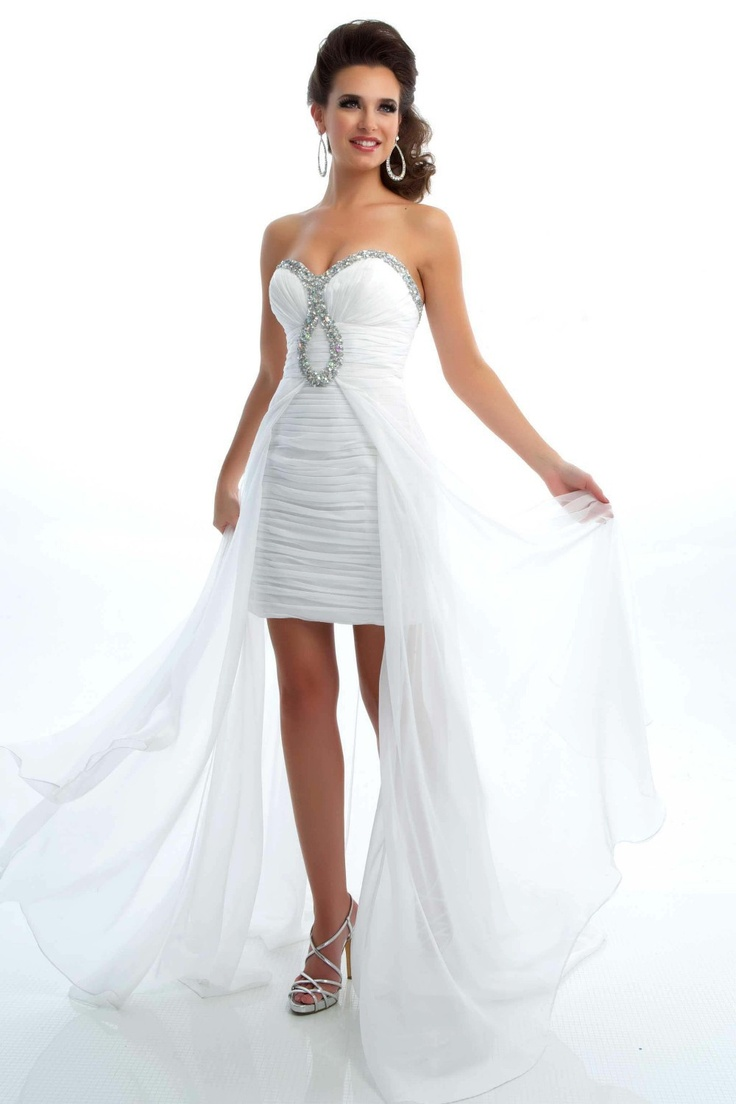 High Low Wedding Dress Weddings And Events Pinterest