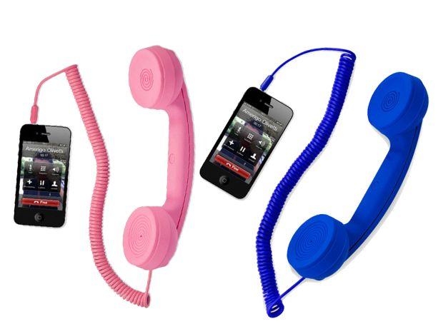 Hi ring cornetta con filo per telefoni blue e rosa 2x1