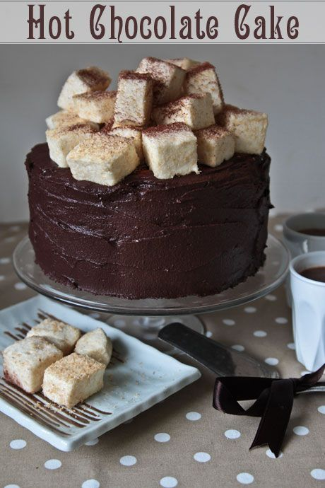 hot chocolate cake marshmallows | Sweets | Pinterest