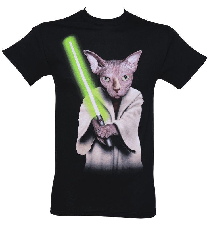 Men's Black Master Cat Pets Rock T-Shirt