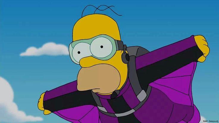 Homer Simpson, sky dive | The Simpsons ( best show ever ) | Pinterest