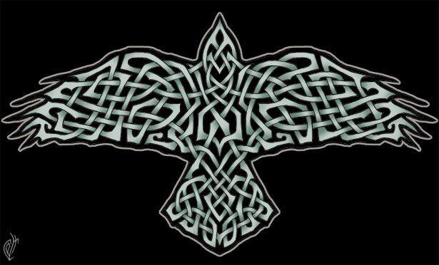 celtic raven celtic pinterest. Black Bedroom Furniture Sets. Home Design Ideas