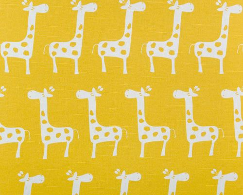 yellow giraffe fabric nursery pinterest