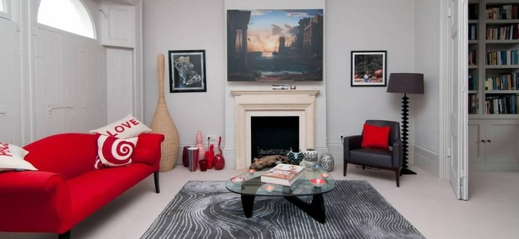 Grey And Red Sitting Room Living Room Re Do Pinterest