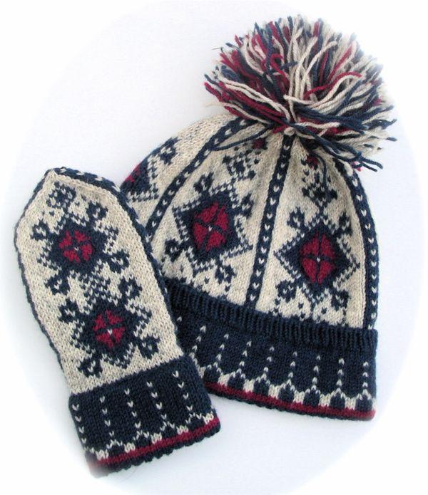 Knitting Pattern For Norwegian Hat : norwegian hat and mittens knitting Pinterest