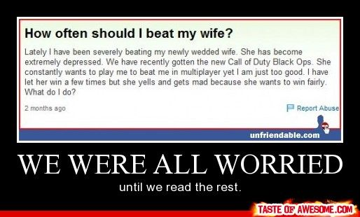 beat her every day!!! :P