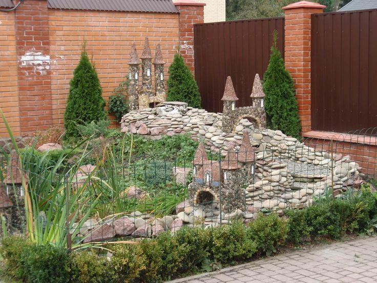 Замки из камней для дачи своими руками 874