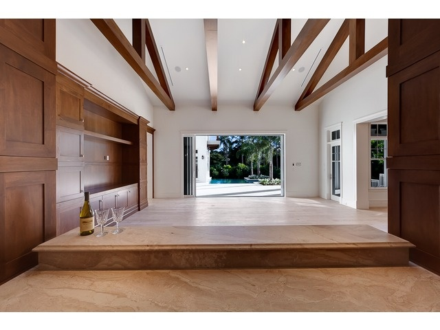 Nice beams in this Aqualane Shores home in Naples, FL.